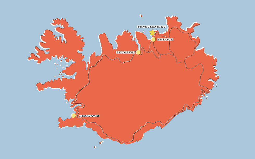 Location map Iceland